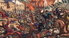 Über Jahrhunderte hinweg hatte Byzanz als Europas Bollwerk im Osten Europas gedient. Doch als im April 1453 das osmanische Heer den Großangriff eröffnete, kam aus dem Westen keine Hilfe. (Kennt man schon, besonders in Polen > rem 01.09.1939 !). Am 29. Mai 1453 begann der entscheidende Sturmangriff der Türken. Nachdem die Janitscharen in die Stadt eingedrungen waren …