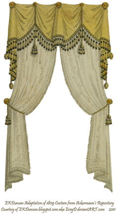 Victorian 1810 Fringe and Tassel Curtain (Traditional drapery's can be over 100 years old and still be in style)