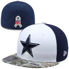 e8898a09dff New Era Dallas Cowboys Youth Sideline Salute To Service 59FIFTY Fitted Hat  - Navy Blue