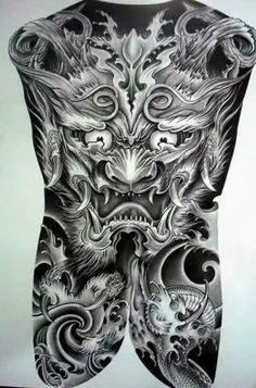Hình Xăm Kín Lưng – Tattoos Full Back