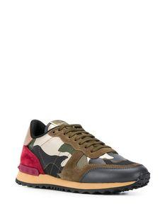 Valentino Valentino garavani rockstud rockrunner sneakers in Green Valentino Sneakers, Valentino Rockstud, Sneakers For Sale, High Top Sneakers, Lace Up, Pairs, Heels, Green, Shopping
