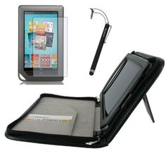 rooCASE 3n1 Executive Leather Portfolio (Black) Case Cover with Stand / Capacitive Stylus / Screen Protector for Barnes and Noble NOOKcolor Nook Color eBook Reader (NOT Compatible with NOOK HD) by rooCASE. Save 27 Off!. $43.24. Limited Lifetime Replacement Warranty. Like a kangaroo safely carries her young in her pouch, rooCASE offers protective solutions for your precious electronic possessions. rooCASE designers work with your needs in mind, ensuring that cases have not only sturdy exte...