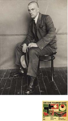Poet Vladimir Mayakovsky, 1924 -by Alexander Rodchenko.  Vladimir Mayakovsky was a Russian and Soviet poet, playwright, artist and stage and film actor.