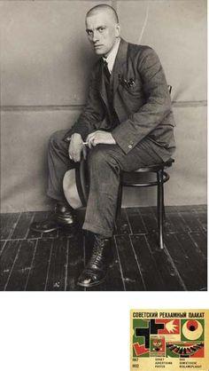 Poet Vladimir Mayakovsky, 1924 -by Alexander Rodchenko