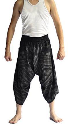 new styles c2bac dcc3c Mens Baggy Yoga Hippie Boho Aladdin Alibaba Harem Pants Black Pants Review