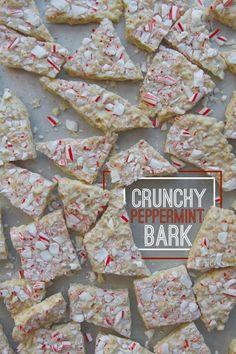 Crunchy Peppermint Bark @FoodBlogs