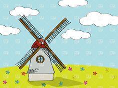 cartoon-dutch-mill-Download-Royalty-free-Vector-File-EPS-13100.jpg (1200×900)