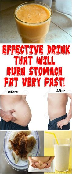 EFFECTIVE DRINK THAT WILL BURN STOMACH FAT VERY FAST!