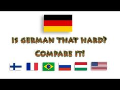 German compared to other languages - YouTube