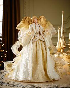 "Ivory & Gold 18"" Angel"
