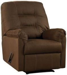 The Harold Point Recliner by Ashley Furniture is available in three colors, which allows you to make this manual reclining piece yours. It has a flex-extending back and foot-rest. Living Room Decor On A Budget, Cafe Wall, At Home Furniture Store, Home Furnishings, Upholstery, Chair, Recliners, Home Decor, Signature Design