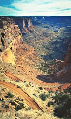 Shafer Trail. Canyonlands National Park, Moab, Utah.