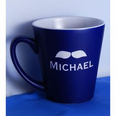 Why wait until Movember? Proclaim your masculinity year-round with these stylized coffee mugs, each etched with classic moustaches and further personalized with your name or initials.