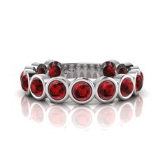 Silver Rhodolite Ring. R2500 Product Code- WR00141 Eternity Ring, Night Out, Cufflinks, Elegant, Rings, Silver, Fun, Accessories, Collection