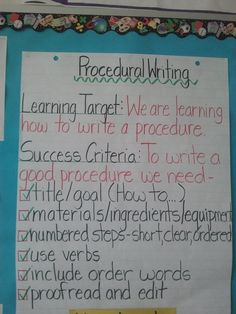 Mr. Marasco's EduBlog: How to put the procedure in Procedural Writing?