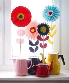 decoracion flores en jarros camilla lundsten Decoración, flores en jarrones improvisados