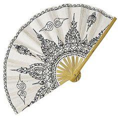 Tibetan Flame Paper Hand Fan