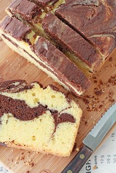 A recipe for marble pound cake from Anna Olson. This marble loaf cake has a great buttery flavour and a lovely texture. The chocolate cake part is made with dark chocolate. Marble Pound Cakes, Marble Cake Recipes, Pound Cake Recipes, Dessert Recipes, Loaf Recipes, Cooking Recipes, Cupcakes, Cupcake Cakes, Mini Loaf Cakes