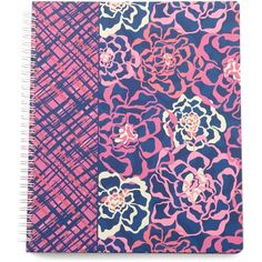 Vera Bradley Notebook with Pocket in Katalina Pink ($14) ❤ liked on Polyvore featuring home, home decor, stationery, back to school, katalina pink and paper and gifts
