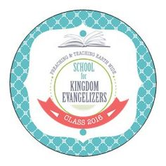 "Small Stickers - Circle (1.5"" diameter) JW : School for Kingdom Evangelizers"