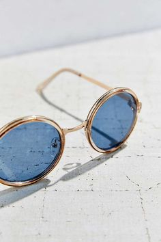 Both Worlds Round Sunglasses, $18 http://feedproxy.google.com/fashiongoSunglass