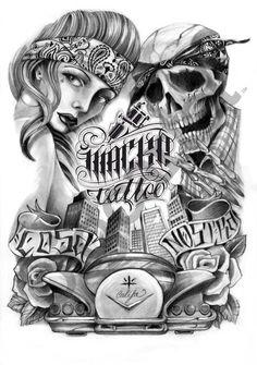 Photos from Antonio Macko Tattoo Shop (mackotattoo) on Myspace Cholo Tattoo, Chicano Tattoos Sleeve, Chicano Style Tattoo, Chicanas Tattoo, Chicano Love, Tattoo Shop, Lowrider Tattoo, Arte Lowrider, Arte Cholo