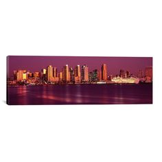 East Urban Home Panoramic Buildings at the Waterfront, San Diego, California 2010 Photographic Print on Canvas Size: