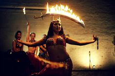 Too.  Cool.  Fire belly dance sword by Flambeaux Fire, via Flickr