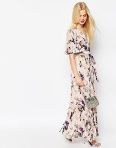 ASOS | ASOS Pleated Maxi Dress in Floral Print at ASOS