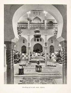 1897 Print Algeria Algiers Maghreb Region House Arab Islamic Architecture Style