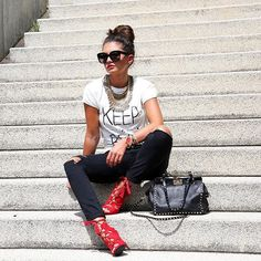 Spotted in our #NIKKIE shirt and pants #keepitreal  German it-girl @fashionhippieloves