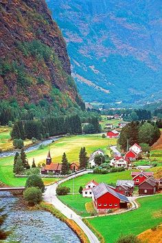 Swedish Farmland- looks like a great, small, quaint place to live.