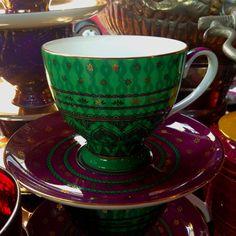T2 Moroccan tea cup & saucer