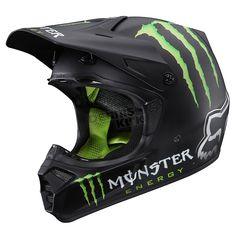 Monster Energy Fox helmet