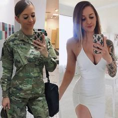 she can do both 9 3 2018 12 18 50 834 Beautiful badasses in (and out of) uniform (25 Photos) Mädchen In Uniform, Femmes Les Plus Sexy, Female Soldier, Army Soldier, Army Ranger, Female Marines, Military Girl, Military Women, Girls Uniforms