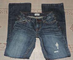 Aeropostale Flare Distressed Womens Jeans - Hailey - 00 Reg. - 25W x 29L