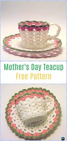 Crochet Mother's Day Teacup Free Pattern - Crochet Teacup Patterns