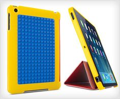 IPad case has LEGO builder plate at the back. You can create awesome things using #LEGO bricks on back of #iPad. #fun