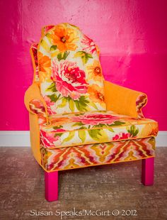 Fabulous Reimagined Vintage Funky Chic Chair by ThePaintedOx, $759.00