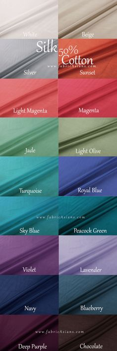 How to name colors? Color Names. Fabric color chart by fabricAsians.etsy.com Click to get 10% COUPON