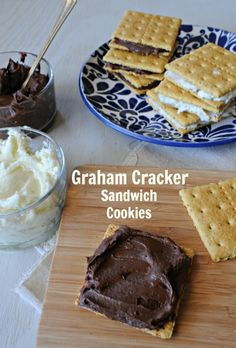 Best Chocolate Sandwich Cookies With White Filling Or Graham Crackers ...