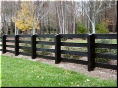 Split rail residential fences look gret and can mark your property line. View our full Atlanta Fence gallery here www.fenceworksofga.com