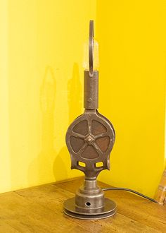 Upcycled Pulley Table Lamp