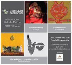Muestra de arte de la Fundación Lebensohn http://www.encuentos.com/ciclos-de-arte/muestra-de-arte-de-la-fundacion-lebensohn/