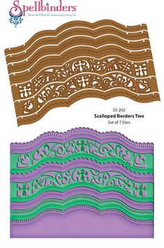 A2 Scalloped Borders Two Dies