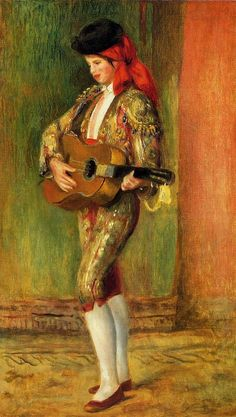 Young Guitarist Standing -  Pierre Auguste Renoir - circa 1897