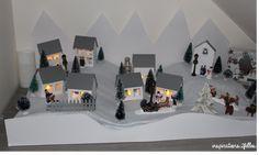 Un village de noël en papier … Decoration, Photo Wall, Frame, Inspiration, Home Decor, Art, Christmas Is Coming, Advent Calendar, Paper