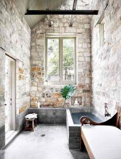 Love the stone walls