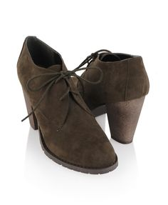 Suedette Lace-Up Ankle Boots