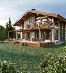 Haus im Chaletstil - Galerie - Chalet Style House – Galerie - Cultural Architecture, Concept Architecture, Architecture Design, Switzerland House, Chalet Style, Rustic Cottage, House In The Woods, My Dream Home, Exterior Design